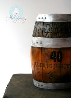 How to Make a Wooden Barrel Cake November 2015 by mcgreevy cake How to Make a Wooden Barrel Cake - McGreevy Cakes Cupcakes, Cupcake Cakes, Whiskey Barrel Cake, Chocolate Cake Mix Recipes, Cake Recipes, Fondant, Birthday Cakes For Men, Dad Birthday, Sculpted Cakes