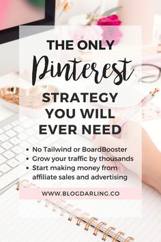 This Pinterest guide literally saved my life! I was able to get traffic & make money with my brand-new blog following this strategy. #aff #bloggingtips #pinteresttips