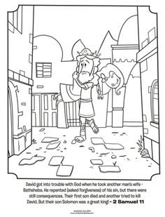 Samuel and david coloring page