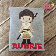 Rey  Star Wars Inspired  Kids Embroidered by JustCheekyBoutiqueTX