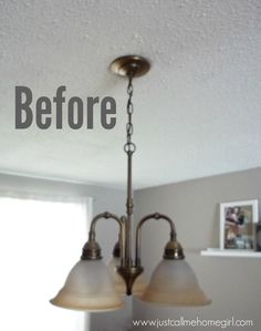 I hated my dining room light fixture that came with our house, but I really didn't want to spend the money to buy a new one. So I updated the existing one for o…