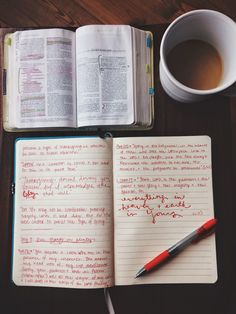 Morning devotional/journal time.