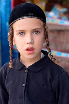Jewish Boy…….WOW--WHAT CURLS……..SOME DAY HE'LL BE A DIAMOND DEALER  IN NEW YORK CITY, BUT RIGHT NOW HE'S HAVING A GREAT TIME JUST BEING A LITTLE BOY…………ccp