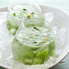Crushed kiwi martini. Delicious.