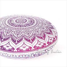 "Colorful Mandala Bohemian Hippie Floor Seating Pillow Cushion Cover Mandala Throw- 32"""