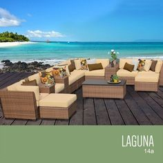 TKC Laguna 14 Piece Outdoor Wicker Patio Furniture Set <3 This is an Amazon Associate's Pin. Locate the item on Amazon website simply by clicking the VISIT button