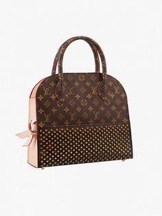 Louis Vuitton Christian Louboutin Shopping Bag with Stud Detail