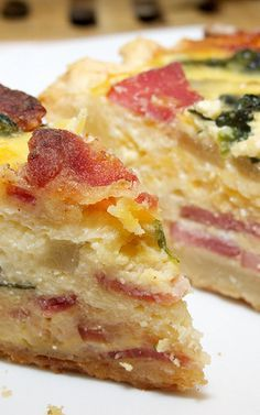 Ham, Egg, and Potato Bake With Cheddar Parmesan
