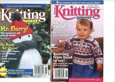 Knitting Digest Magazine Nov 1999  & Jan 2000 Pre-Owned Really Good Condition #KnittingDigest #Backissues #Knittingpatterns