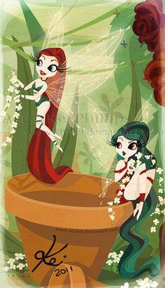 Just the fairies by kinkei on deviantART