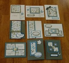 One Sheet Wonder card set by Kathy Karten Diy, One Sheet Wonder, Card Making Techniques, Card Tutorials, Card Sketches, Card Tags, Paper Cards, Creative Cards, Greeting Cards Handmade
