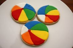 these are cute beach ball cookies