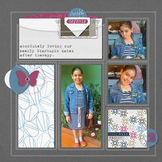 Great layout! Love all the stitching & the pocket. By Anilú Magloire, No Shrinking Violet (Mar'13)
