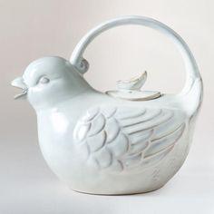 One of my favorite discoveries at WorldMarket.com: Bird Teapot