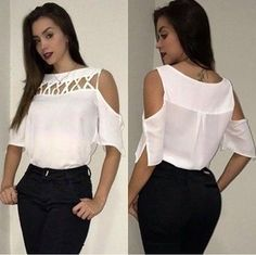 Blusa ombro a ombro - Emilia Bernardo Moda e Tendência 90s Fashion, African Fashion, Girl Fashion, Fashion Dresses, Womens Fashion, Fashion Tips, Fashion Design, Fashion Blouses, Fashion Mask
