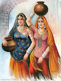 Indian paintings have a very long tradition and history in Indian art. There are more than 20 types of painting styles available in india. The earliest Indian paintings were the rock paintings of pre Indian Art Gallery, Indian Artwork, Indian Art Paintings, Indian Folk Art, Indian Artist, Oil Paintings, Rajasthani Miniature Paintings, Rajasthani Painting, Rajasthani Art