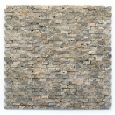 Shop Solistone 10-Pack 12-in x 12-in Modern Brown Natural Stone Mosaic Subway Wall Tile (Actuals 12-in x 12-in) at Lowes.com