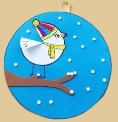 Bird Crafts, Paper Crafts, Grade 1 Art, Paper Birds, Winter Art, Christmas Crafts For Kids, Winter Season, Preschool Activities, Art Lessons