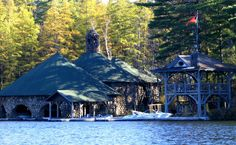great camps of the adirondacks | ... Boathouse at Katja American Style: The Adirondacks & Great Camps