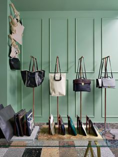 purse table display - Google Search