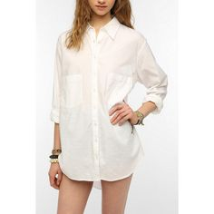 BDG Oversized Button-Down Shirt ($49) ❤ liked on Polyvore