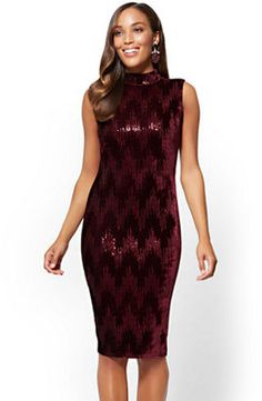 45b4e2a50a New York  amp  Co. Sequin Velvet Shift Dress  ad New York And Company