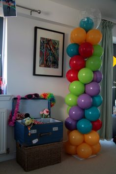 Balloon Columns - Great way to make a statement at a party venue.  Designed to fit in with the party theme and colours.