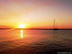 Sunset at Naxos Town