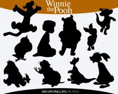 winnie the pooh silhouettes Disney Font Free, Disney Diy, Disney Crafts, Disney Trips, Disney Fonts, Disney Shirts, Silhouette Curio, Silhouette Cameo Projects, Disney Paintings