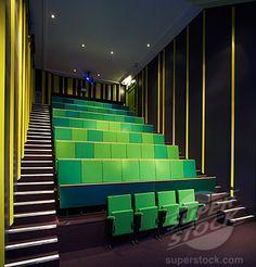 Interior  Education, movie theatre in a school