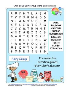 Older students will enjoy our more challenging word search puzzles. These word search puzzles focus on the food groups, exercise and their health benefits. Each word search puzzle has 10 words for children to find.
