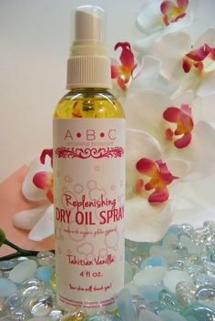 Replenishing Dry Oil Spray Tahitian Vanilla  by #AnnalieseBodyCare, $9.00   Skin is replenished with rich, organic oils to give your skin the very best!