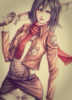 Mikasa Ackerman from Attack on Titan - Shingeki no Kyojin #AoT #SnK