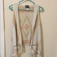 Cute cardigan Cute sleeveless cardigan for summer. Only worn once! Sweaters Cardigans
