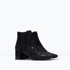 ZARA - WOMAN - GLITTER ANKLE BOOTS --- if i can't have the ysl glitter boots, i want these.