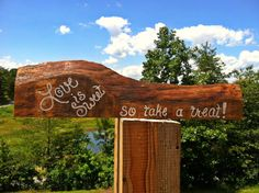 Love is sweet so take a treat rustic wedding by SawmillCreations, $29.00