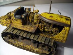 35174 U.S. TRACTOR D7N w/TOWING WINCH D7N by Modeller Anthony Ryan #D7 #TRACTOR #miniart