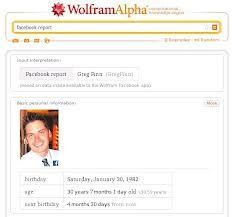 Facebook report - Wolfram|Alpha