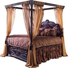 I will own a canopy bed if I ever have a master bedroom with higher ceilings  sc 1 st  Pinterest & Fine antique carved lacquer Chinese Qing dynasty wedding canopy ...