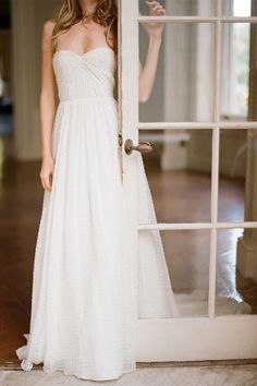 dotted lace wedding dress