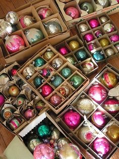 I can't explain it, but after Christmas this year, I had it on my mind to collect Shiny Brites. They remind me of my Grandpa Lambert's house at Christmas time. He always had Christmas candy & fruit laid out every day for anyone who came to visit weeks before Christmas. The amount of candy dwindled over the years of course. & now he is gone.