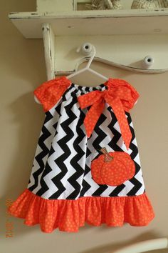 Halloween Appliqued Dress by TheSmockingGarden on Etsy, $28.00