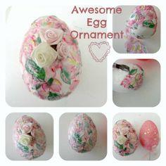 Awesome Egg Ornament – made with Styrofoam — craftbits.com
