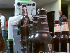 Willow Garage PR2 Robot Pours Out Beer Now.