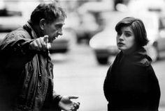 Krzysztof Kieslowski directs Irène Jacob in La double vie de Véronique.
