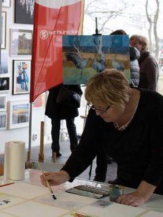 """Malevent bei """"Rostock kreativ"""" in der Kunsthalle Rostock   Malen bei Rostock kreativ in der Kunsthalle Rostock (c) Annett Grabow (1) Paper Shopping Bag, Artworks, Creative"""
