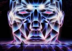 Epic fantasy world in '80s-inspired sci-fi illustrations
