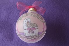 Baby Girl Baptism Ornament Child of God Baby by BarbziesCustomArts - pretty ornament, may look here for baby's first Christmas.