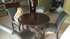 New chairs from wayfair with grandmother's table in kitchen.