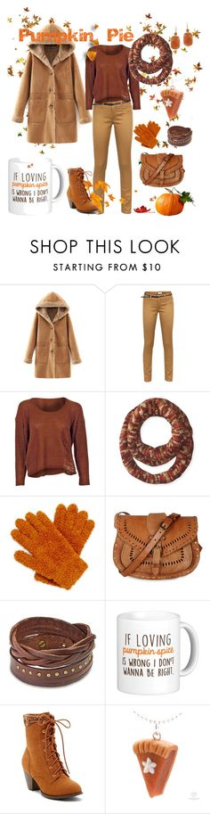 """""""Pumpkin Pie"""" by tammiejewels ❤ liked on Polyvore featuring Ichi, Muk Luks, Mixit, Warehouse, West Coast Jewelry, Top Guy and Glitzy Rocks"""